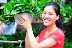 Woman florist Stock Image