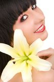 Young woman with flower Stock Photography