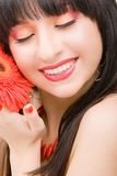 Young woman with flower royalty free stock images