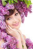 Young woman with flowers Royalty Free Stock Photo