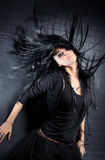 Young woman with fluttering hair Royalty Free Stock Photos