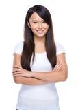 Young woman fold arm Stock Photos