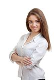 Young woman with folded arms Stock Photo