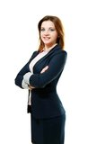Young woman with folded arms Royalty Free Stock Photography