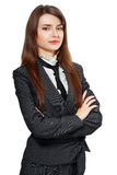 Young woman with folded arms Royalty Free Stock Image