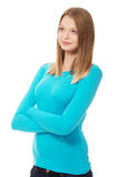 Young woman with folded arms Stock Image