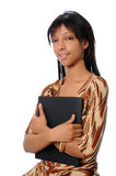 Young woman with folder Royalty Free Stock Photo