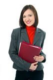 Young woman with folder documents royalty free stock photos