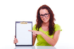 Young woman with folder Royalty Free Stock Images