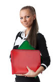 Young woman with folders Stock Image