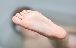 Young woman foot Royalty Free Stock Photography