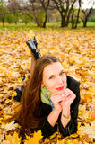 Young woman in forest Royalty Free Stock Photography