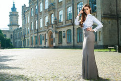 Young woman in formal clothes Royalty Free Stock Images