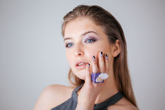 Young woman with fresh skin Stock Photo