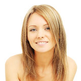 Young woman with friendly smile. Cheerful woman with friendly smile Stock Photos