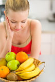 Young woman with fruits Stock Image