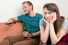 Young woman is frustrated. Young women is frustrated at home Stock Image