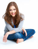 Young woman full body portrait. Beautiful smiling girl Royalty Free Stock Image