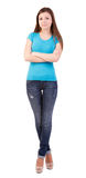 Young woman full length isolated Royalty Free Stock Photos