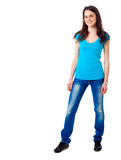 Young woman full length portrait Stock Photos
