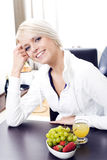 Young woman full of vitality Stock Photography