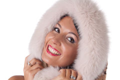 Young woman in fur. Stock Photos