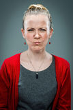 Young Woman with Furious Expression Royalty Free Stock Photo