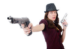 Young woman gangster Royalty Free Stock Photography