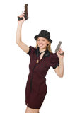 Young woman gangster Royalty Free Stock Photos