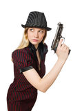 Young woman gangster Stock Photography