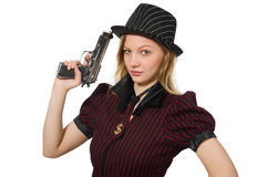 Young woman gangster Stock Image