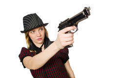 Young woman gangster Stock Photo