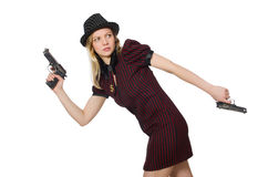 Young woman gangster Stock Photos