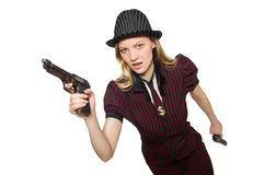 Young woman gangster Royalty Free Stock Images