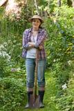 Young woman in a garden Stock Photos
