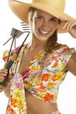 Young woman gardener Royalty Free Stock Photos