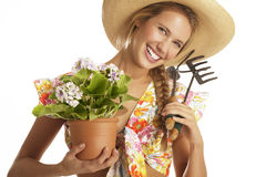 Young woman gardener Stock Photography