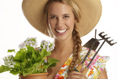 Young woman gardener Stock Image