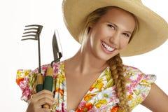 Young woman gardener Stock Photo