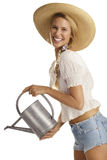 Young woman gardener Royalty Free Stock Photos