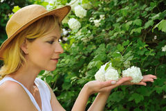 Young woman gardening Royalty Free Stock Images