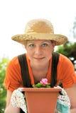 Young woman  gardening Stock Photos