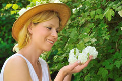 Young woman gardening Stock Photography