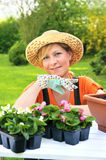 Young woman - gardening Stock Image