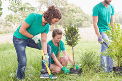Young woman gardening for the community Royalty Free Stock Photography