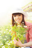 Young woman gardening Royalty Free Stock Image