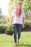 Young woman gardening Stock Images