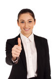 Young woman gesturing OK Stock Photo