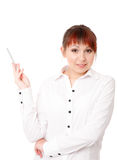 Young woman gesturing Royalty Free Stock Photos