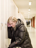 Young woman getting bullied at school Royalty Free Stock Photography
